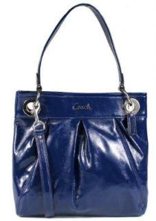 Coach Patent Leather Hippie Convertible Handbag 17953 Cobalt Blue Shoes
