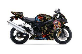 Ed Hardy AMR Racing Suzuki Gsxr 600/750 Sport Bike Graphic Kit Graphic Decal: Automotive