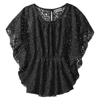 Cherokee Girls 3/4 Sleeve Shirt   Ebony S