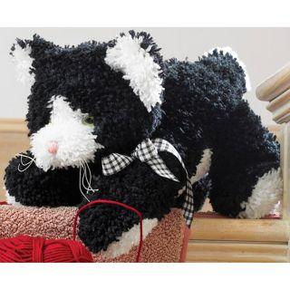 Huggables Kitty Stuffed Toy Latch Hook Kit, Acrylic