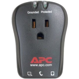 APC P1T 1 OUTLET TRAVEL SURGE PROTECTOR WITH TELEPHONE PROTECTION   Home Office Furniture