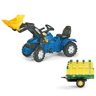 Kettler 036219 Holland Pedal Tractor w Front Loader Hay Wagon Toys & Games