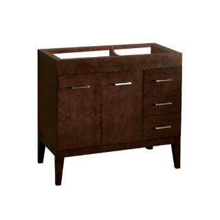 "Contempo Venus 36"" Bathroom Vanity Cabinet Finish: Dark Cherry"
