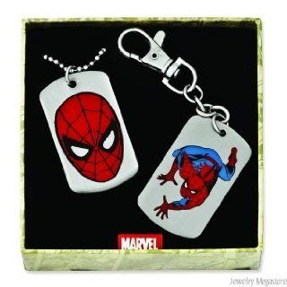 Marvel Comics Spiderman Keyring and Dog Tag with Chain) Boxed Gift Set Clothing