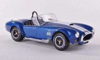 Ac Cobra 427, met. blue with white stripes , 1965, Model Car, Ready made, Solido 118 Solido Toys & Games