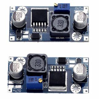 2013newestseller 2pcs Lm2596 Buck Dc dc Step Down Cc cv Adjustable Power Supply Module: Electronics