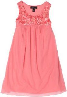 Amy Byer Girls 7 16 Sleeveless Empire Aline Dress, Coral, 8: Playwear Dresses: Clothing