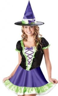 In Character Teen Junior Girls Cute Witch Halloween Costume Dress: Clothing