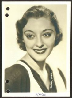 Kathleen Burke film actress 1930s 5x7 1913 1980: Entertainment Collectibles