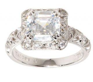 Tacori IV Diamonique Epiphany Asscher Cut Crescent Ring —