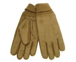 Isotoner ISO Men's Brushed Microfiber Gloves Luggage One Size at  Men�s Clothing store: Cold Weather Gloves