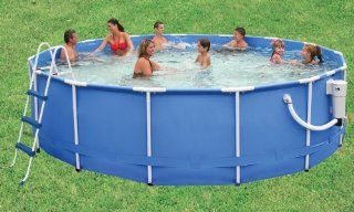 Summer Escapes Pro Series 16 Foot by 48 Inch Frame Pool (Discontinued by Manufacturer)  Framed Swimming Pools  Patio, Lawn & Garden