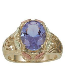 Black Hills Gold Mt. St. Helens Emerald Obsidianite Women's Ring SZ 7 Jewelry