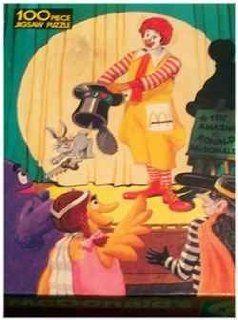 1984 McDonald's 100 Piece Puzzle   The Amazing Ronald McDonald Toys & Games