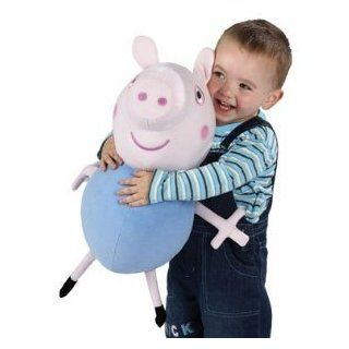 """16"""" Peppa Pig George Large Plush Talking Cuddly Soft Huggable Doll Toy: Toys & Games"""