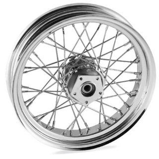 Bikers Choice 16 x 3.5in. Belt Driven Rear Wire Wheel   40 Spoke , Color: Chrome, Position: Rear, Rim Size: 16 M16321336: Automotive