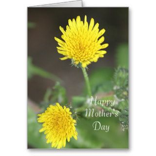 Yellow Flowers Happy Mother's Day Greeting Card