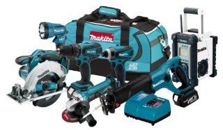 Makita LXT702 18 Volt LXT Lithium Ion Cordless 7 Piece Combo Kit   Power Tool Combo Packs