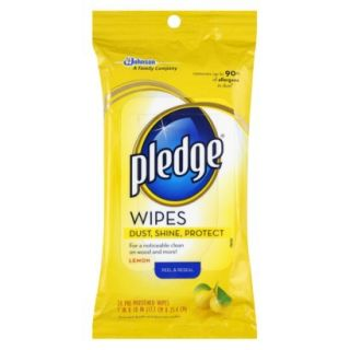 Pledge® Lemon Pre Moistened Wipes 24 ct