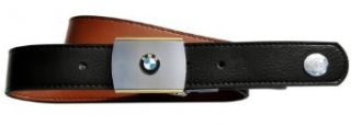 "Geo Belts BMW Reversible Belt in Gift Box with Lapel/hat Pin Badge (Up to 50"") Black/brown at  Men�s Clothing store"