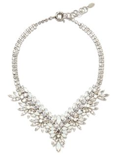White Opal Crystal Bib Necklace by Elizabeth Cole