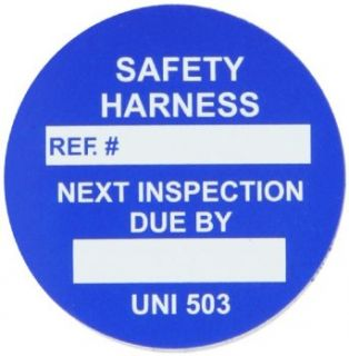 "Brady UNI UNI503 B 1 3/4"" Diameter Vinyl, Blue Unitag Safety Harness Insert (Pack of 100): Industrial Warning Signs: Industrial & Scientific"