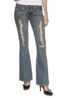True Religion Flare Leg Jeans JOEY DESTROYED, Color Blue, Size 28