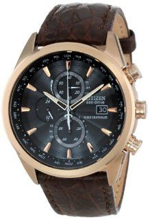 Citizen Men's AT8013 17E Eco Drive Limited Edition World Chronograph Dress Watch: Watches