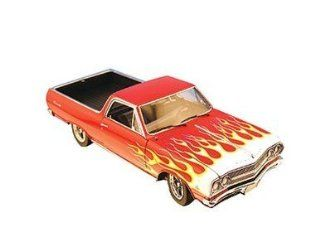 Exact Detail ED508 1:18 1965 Car Craft El Camino in Red with Flames: Toys & Games