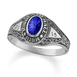 Ladies Silver Select™ Fantasia Class Ring by ArtCarved® (1 Stone