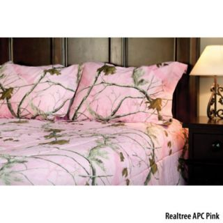 Birchwood Trading Realtree APC Pink Camo Full Comforter Set 754359
