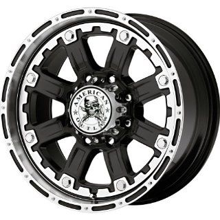"American Outlaw Armor Black Machined Face Wheel with Machined Finish (20x9""/8x180mm) Automotive"