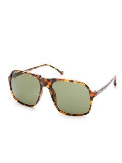 Oversized Square Acetate Aviator Sunglasses by Dries Van Noten x Linda Farrow