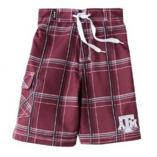 Texas A&M Aggies TAMU Toddler Boys Swim Short   Bat Boy (Plaid Pattern): Clothing