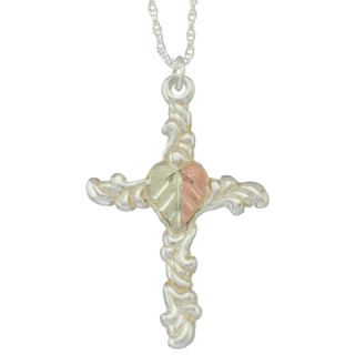 gold cross pendant in sterling silver orig $ 59 00 now $ 50 15 add to