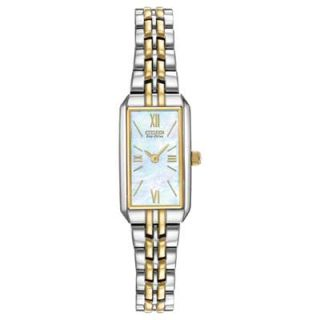 Ladies Citizen Eco Drive™ Silhouette Two Tone Bracelet Watch with