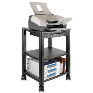 New Kantek PS540   Mobile Printer Stand, 2 Shelf, 17w x 13 1/4d x 19 3/4h, Black   KTKPS540 : Office Products