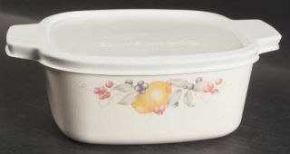Corning Abundance 1.5 Qt Sq. Cov. Casserole W/Glass Or Plastic Lid, Fine China D