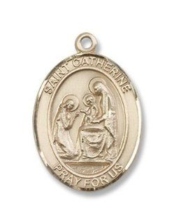14kt Gold St. Catherine of Siena Medal, Patronage, Patron Saint against fire, bodily ills, Europe, fire prevention, firefighters, illness, Italy, miscarriages, nurses, nursing services, people ridiculed for their piety, sexual temptation, sick people, sick