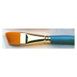 Size 1/2 Inch Angular Regency Gold Series 560 Artist Paint Brush By Winsor and Newton   Arts And Crafts Supplies Artists Painting Supplies Artists Paintbrushes Artists Angled Paintbrushes
