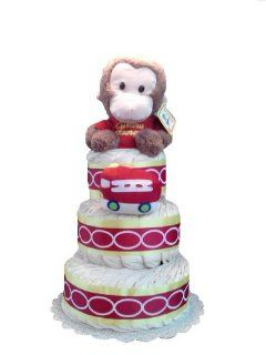 Curious George Gender Neutral Baby Shower Diaper Cake Gift Set : Baby Boy Trucks : Baby