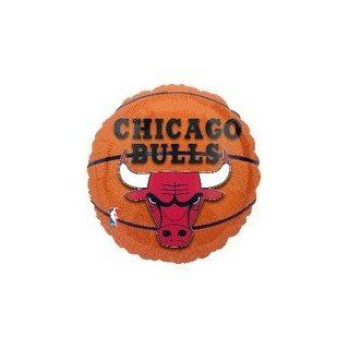 "Single Source Party Supplies   18"" NBA Chicago Bulls Basketball Mylar Foil Balloon: Toys & Games"