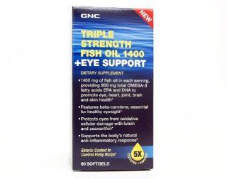 GNC Triple Strength Fish Oil 1400mg + Eye Support 60 (Sgels) Health & Personal Care
