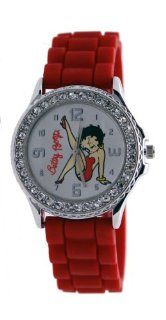 Betty Boop 'Burlesque Thrust' Women's Fashion Red Resin Watch BB W563B: Watches
