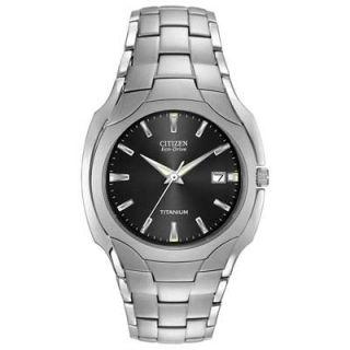 Mens Citizen Eco Drive™ Titanium Grey Dial Watch (Model: BM6560 54H