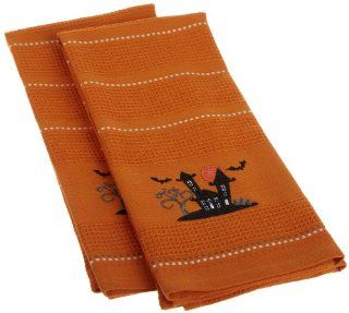 DII Haunted House Embroidered Dishtowel, Set of 2   Dish Towels
