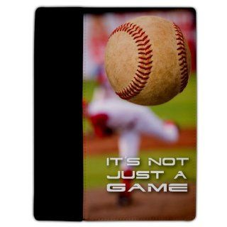 iPad 2/3 Cover   Baseball Themed   It's Not Just A Game   Protective Leather Case: Cell Phones & Accessories