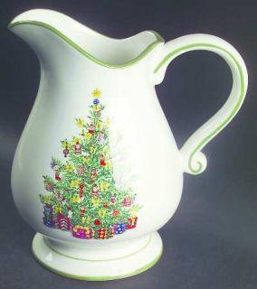 Christopher Radko Holiday Celebrations (Green Trim) 64 Oz Pitcher, Fine China Di