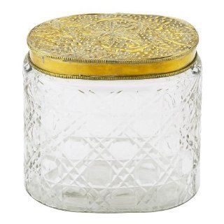 Shop Lisbeth Dahl Clear Glass Box with Patterned Brass Lid at the  Home D�cor Store. Find the latest styles with the lowest prices from Lisbeth Dahl