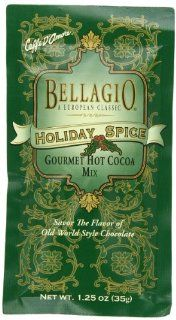 Bellagio Holiday Spice Cocoa, 1.25 Ounce Packets (Pack of 25) : Hot Cocoa Mixes : Grocery & Gourmet Food
